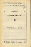 Illustration: Cover of the Cinema Palace programme