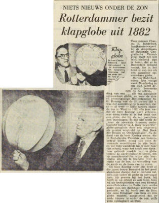 Newspaper article: Collapsible globe existed as early as 1882