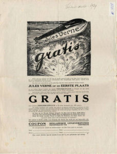 "Illustration: Advertisement – ""Jules Verne gratis"""