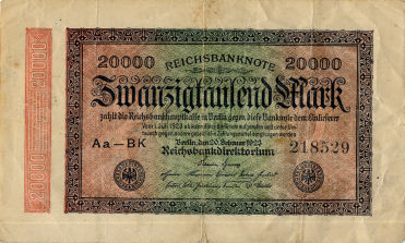 Illustration: German banknote with publicity for the film